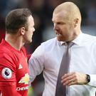 Sean Dyche, right, has highlighted the value of Wayne Rooney ahead of Burnley's clash with Manchester United