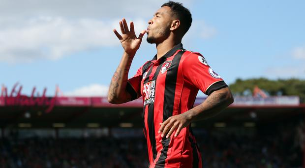 AFC Bournemouth's Joshua King celebrates scoring his side's first goal of the game during the Premier League match at the Vitality Stadium, Bournemouth.