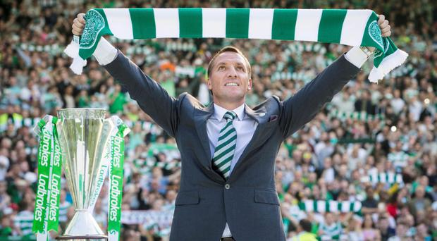 Brendan Rodgers is on course to win the treble in his first season as Celtic boss