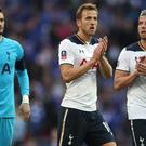 Harry Kane, centre, scored in Tottenham's 4-2 defeat to Chelsea