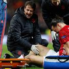 Zlatan Ibrahimovic suffered knee-ligament damage on Thursday night