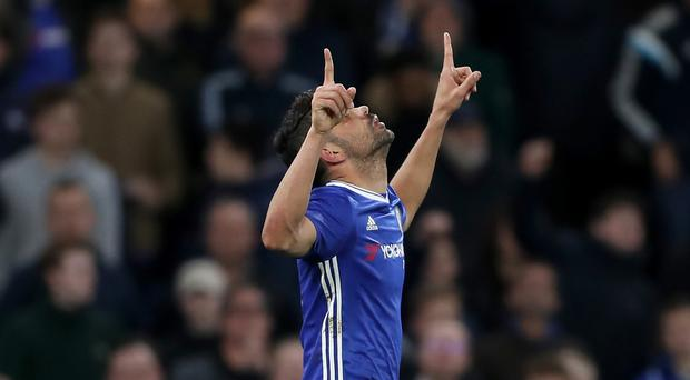 Diego Costa scored twice for Chelsea against Southampton