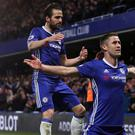 Gary Cahill, front, celebrates his goal against Southampton