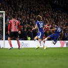 This is the moment Diego Costa, number 19, reached his Premier League half-century