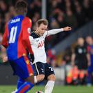 Tottenham's Christian Eriksen scores the winner against Crystal Palace
