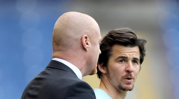 Sean Dyche, pictured left, believes the 18-month ban for Joey Barton, right, is harsh