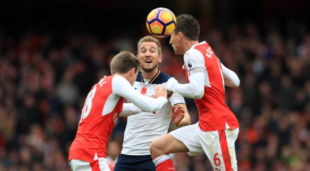 Harry Kane's, centre, Tottenham sit 14 points clear of Arsenal ahead of the match this weekend