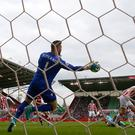 West Ham could not find a way past Jack Butland