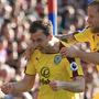 Ashley Barnes, left, celebrates his opener for Burnley
