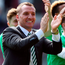 Celtic manager Brendan Rodgers celebrates after the match Photo: PA News