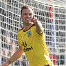 Ashley Barnes grabbed Burnley's opening goal at Crystal Palace
