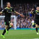 Chelsea's Pedro celebrates scoring his side's opening goal