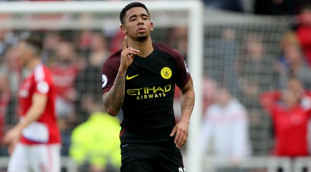 Manchester City's Gabriel Jesus earned his side a point