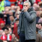 Jose Mourinho's Manchester United were frustrated by Swansea on Sunday