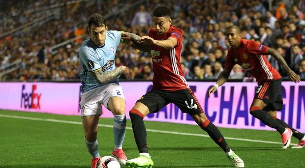 Jesse Lingard, right, helped Manchester United to victory at Celta Vigo on Thursday