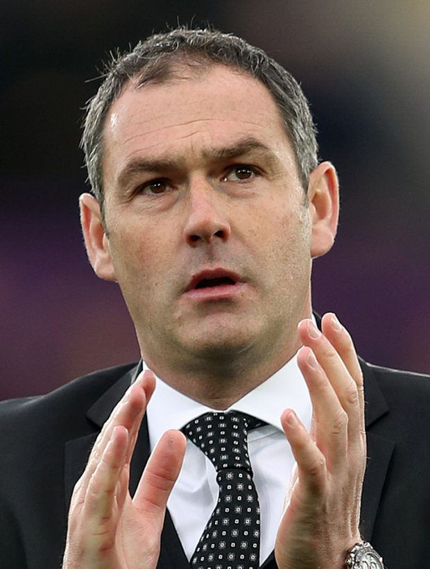 Swansea City manager Paul Clement. Photo: PA News