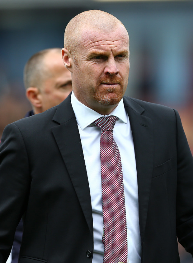 Sean Dyche's Burnley edged closer to safety after the home draw. Photo: PA Wire
