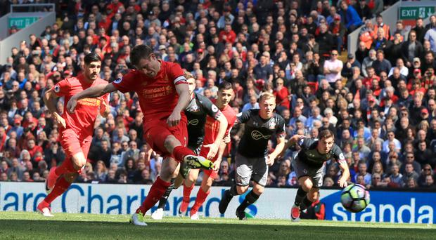 James Milner's missed penalty means Liverpool have failed to score against Southampton in four games this season