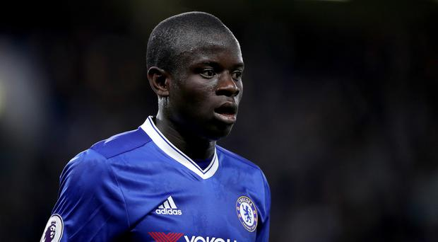 Chelsea's N'Golo Kante has been voted the Football Writers' Association's Footballer of the Year for 2017