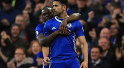 Diego Costa scored his 20th league goal of the season as Chelsea cruised to a 3-0 victory over Middlesbrough.