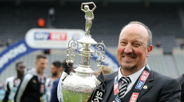 Rafael Benitez, pictured, has been promised 'every last penny' to help Newcastle in the Premier League