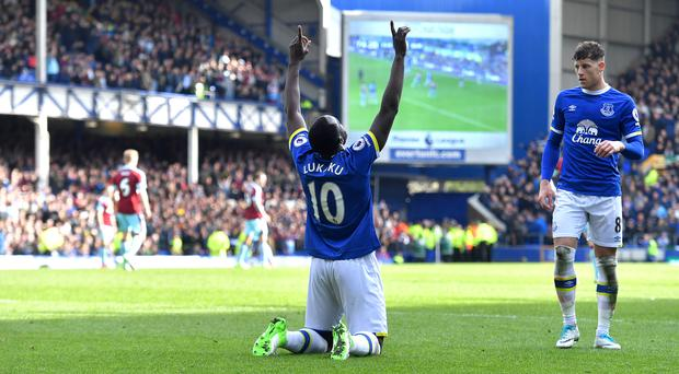 The futures of Everton's Romelu Lukaku, left, and Ross Barkley remain in doubt