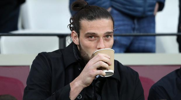 Andy Carroll will watch West Ham from the stands again