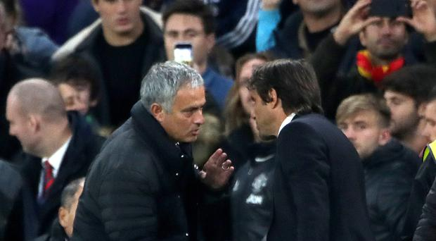 Chelsea head coach Antonio Conte (right) upset Manchester United manager Jose Mourinho during his side's 4-0 win at Stamford Bridge
