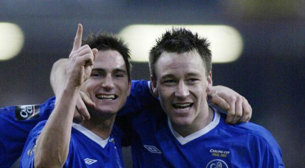 Former Chelsea midfielder Frank Lampard, left, says John Terry, right, will be tough to replace.