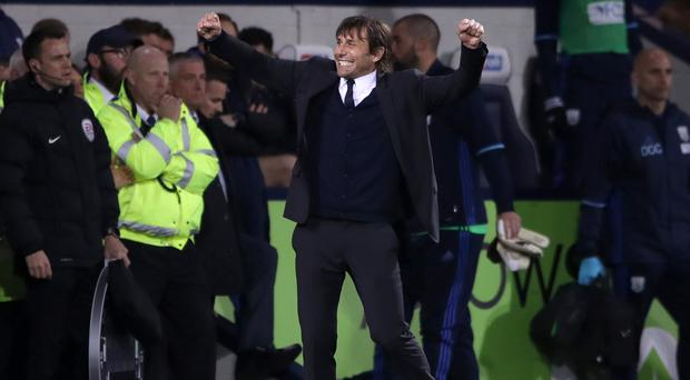 Antonio Conte given 'surprise' ice bucket drenching by Chelsea players
