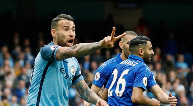 Leicester's Riyad Mahrez celebrates scoring from the penalty spot but Manchester City's complaints were valid
