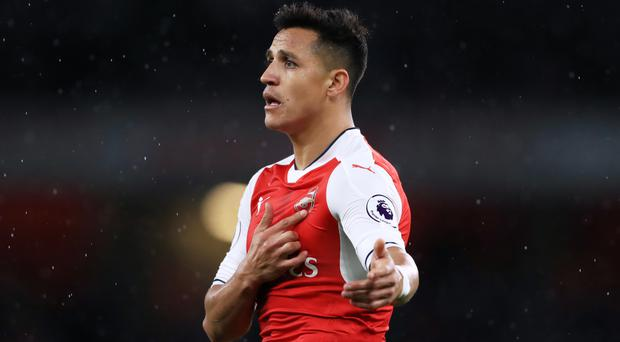 Alexis Sanchez was the two-goal hero for Arsenal on Tuesday