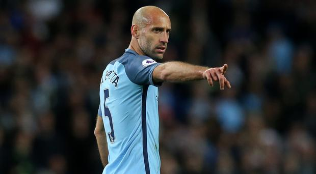 Pablo Zabaleta has played his last home game for Manchester City
