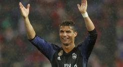 Real Madrid's Cristiano Ronaldo is used to celebrating goals