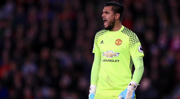 Sergio Romero made a fine save from the spot