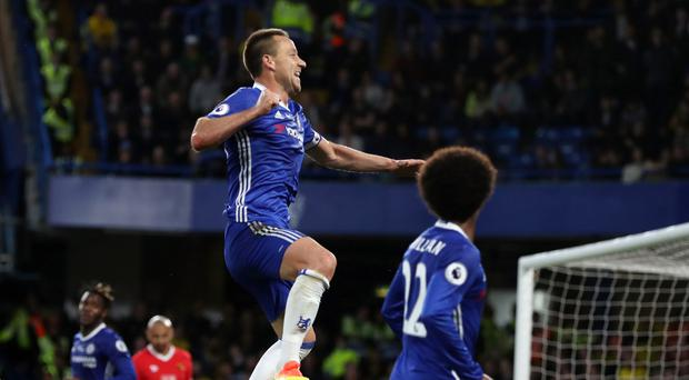 Chelsea's John Terry, centre, is set for an emotional Stamford Bridge farewell