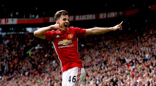 Manchester United's Josh Harrop enjoyed a dream day against Palace