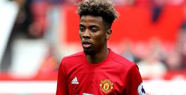 Manchester United's Angel Gomes made his Premier League debut at the age of 16