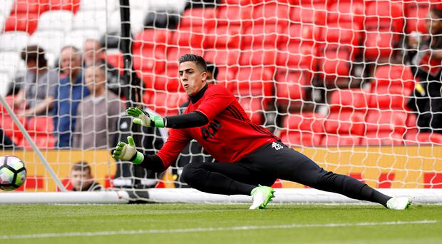 Joel Pereira was one of four debutants for Manchester United on the last day of the season