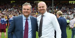 Burnley chairman Mike Garlick, left, and Sean Dyche have experienced plenty of success at Turf Moor