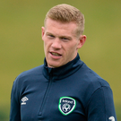 Ireland and Stoke City winger James McClean