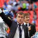 Chairman Dean Hoyle saw his Huddersfield side win promotion to the Premier League.
