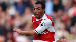 An Achilles injury has sidelined Arsenal's Santi Cazorla since October