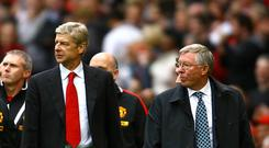 Arsene Wenger, left, and Sir Alex Ferguson, right, had a heated rivalry