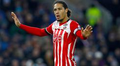 Southampton's Virgil van Dijk is a wanted man