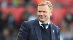 Everton manager Ronald Koeman, pictured, has agreed a deal for Nigeria international Henry Onyekuru