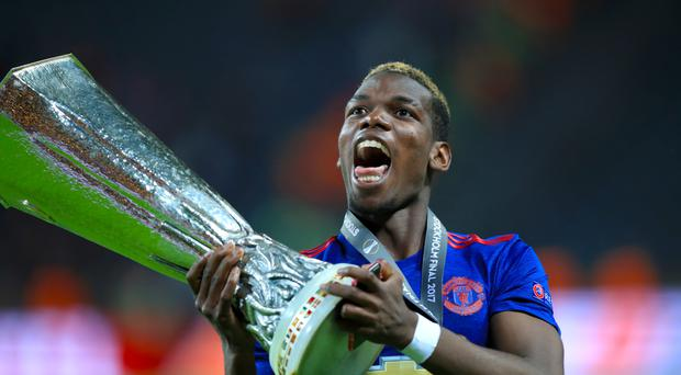Paul Pogba helped Manchester United win the Europa League