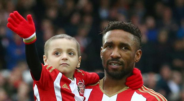 Jermain Defoe built up a special bond with Bradley Lowery