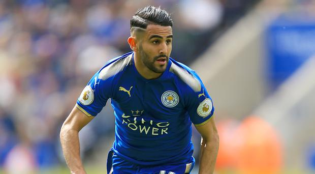 Leicester's Riyad Mahrez helped the Foxes win a shock Premier League title in 2016.