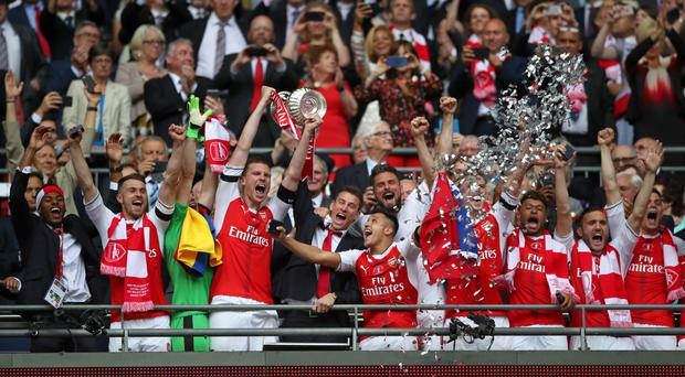 Per Mertesacker scored the first goal of Arsenal's pre-season as the Gunners returned to action for the first time since winning the FA Cup.